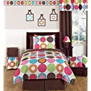 Deco Dot Modern Teen Bedding 3pc Full Queen Set By Sweet Jojo Designs