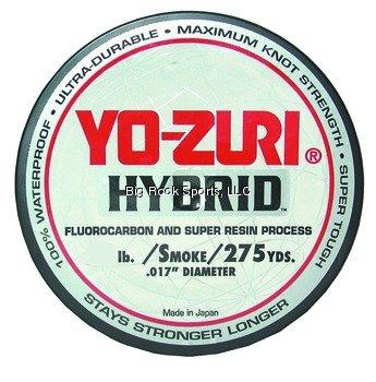 Yo-zuri 275-yard Hybrid Fluorocarbon Fishing Line Smoke Purple 20-pound by Big Rock Sports