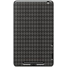 Amzer 95126 Luxe Argyle High Gloss TPU Soft Gel Skin Case - Smoke Grey for Google Nexus 7, Asus Nexus 7