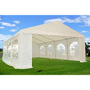 26'x16′ PE Tent White – Heavy Duty Wedding Party Canopy Carport PE – DELTA Canopies