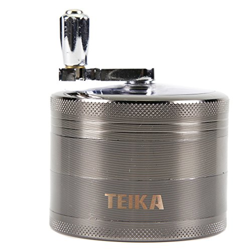 Purchase Tobacco/Spice Grinder Chromium Metal Herb Grinder with Mill Handle 4 Parts 2.5 Inches