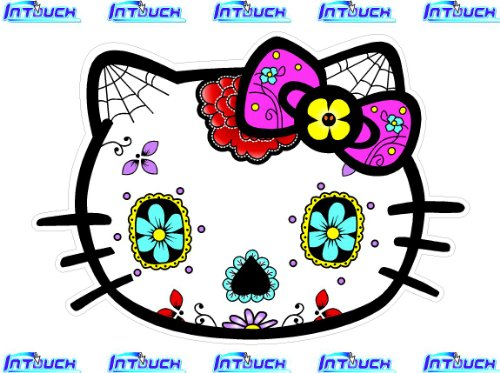 Hello-Kitty-Sugar-Skull-Sticker-Decal