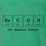 Mashed Clothing Bacon The Essential Element Periodic Table Adult T-Shirt (Vintage Green, Large)