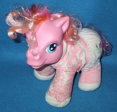 My Little Pony Laughing Rose Blossom Plush Toy (2003)
