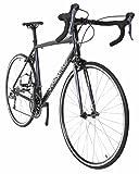 Vilano FORZA 4.0 Aluminum Integrated Shifters Road Bike, Black, 53cm/Medium