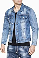 Jeansnet - Jeansjacke - mit Kragen