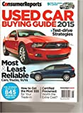 Consumer Reports Used Car Buying Guide 2015