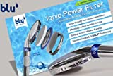 Blu Ionic Power Shower Water Filter Eliminates Chlorine & Saves Water. The Ionic Power Filter ionizes your shower environment and enriches the water with healthy negative ions and a zesty lemon aroma, leading to amazing health benefits. The excellent wat