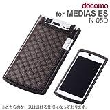 レイ・アウト docomo MEDIAS ES N-05D用キラキラソフトジャケット/ラメブラックRT-N05DC7/B