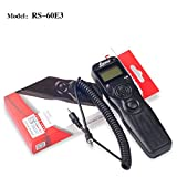 IMZ Digital Timer Remote Shutter Release Cord (Replacement for RS-60E3) for Canon Rebel T7i T6i T6S T5 T5i T4i T3i T2i T1i XT EOS M 700D 650D 600D 550D 500D 1100D 60D 70D PowerShot G16 G15 G5 X
