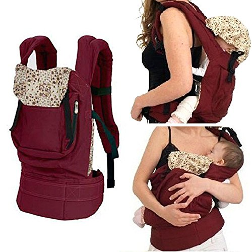 Amcctvshop New Cotton Baby Newborn Carrier Infant Comfort Backpack Sling Wrap (Red)