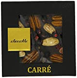 ChocoMe Carré Dark Chocolate with Blackcurrants/ Almonds and Pecans 50 g