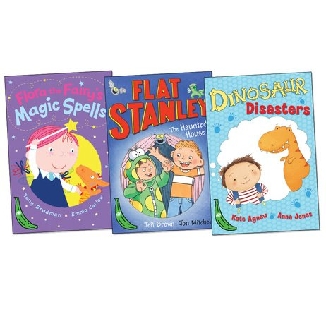 green-bananas-pack-3-books-rrp-1497-dinosaur-disasters-flat-stanley-the-haunted-house-flora-the-fair