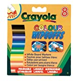 Crayola 8 Colour Wipeoffs White Board Markers Wide Tip