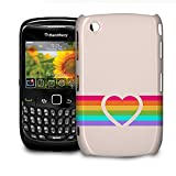 Rainbow Heart Phone Hard Shell Case for BlackBerry Q10 Z10 Bold Curve Torch & more - BlackBerry Curve 8520/9300
