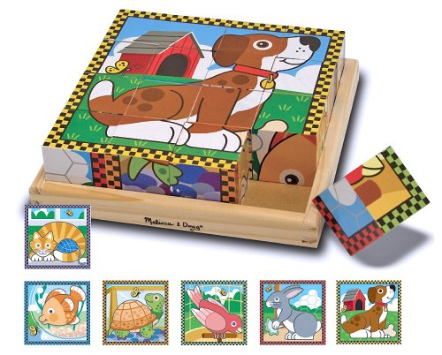 Pets Themed Cube Puzzle + FREE Melissa & Doug Scratch Art Mini-Pad Bundle [37716]