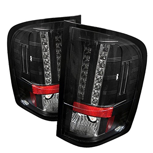 Spyder Auto Chevy Silverado 1500/2500/3500 Black LED Tail Light (2008 Silverado Taillights compare prices)