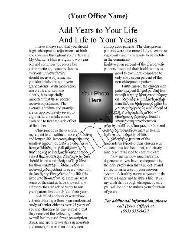 Chiropractic - 52 Weekly Chiropractic Patient Education Handouts - Volume 2 front-150088