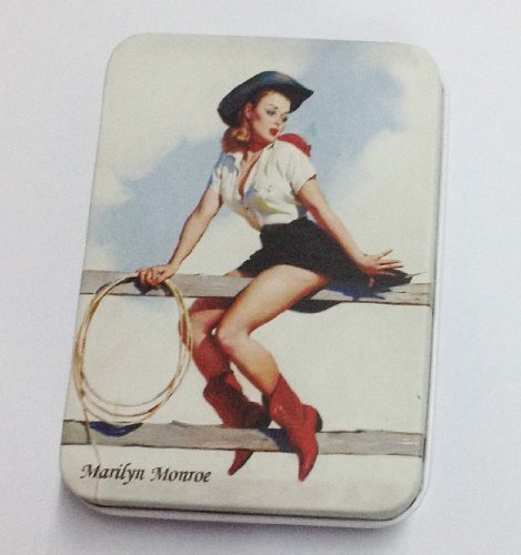 Necklace Earring Storage Box Cosmetic Compact Cowboy Girl