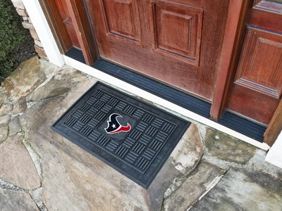 "Fan Mats NFL Houston Texans Medallion Door Mat 18"" x 30"""