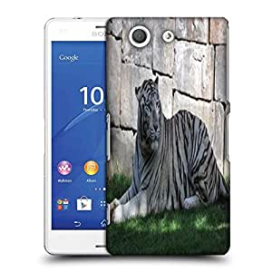 Snoogg White Tiger Designer Protective Phone Back Case Cover For SONY XPERIA Z3 COMPACT