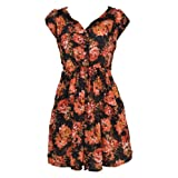 Banana Flame Jersey Floral Tea Dress