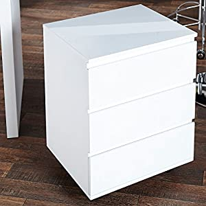 Mobile filing drawer cabinet move for office highgloss for Schreibtisch 140x70