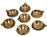 MA DESIGN HUT Kuber Deep Diwali Item - Deepawali Lighting Brass Oil Diya Diwali Decoration Pooja and Home Decor Item Festival Gift Item Set of 7