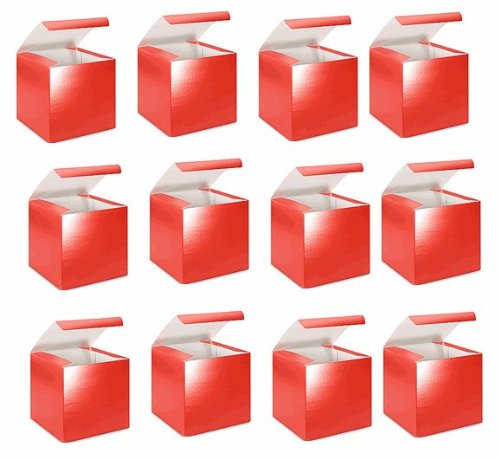 BundleofBeauty BJ76Y - 4in. X 4in. X 4in. Red Gift Boxes - pack of 10 - 1