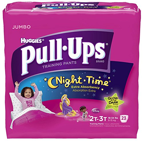 Huggies Pull-Ups Nighttime Training Pants - Girls - 2T-3T - 23 ct
