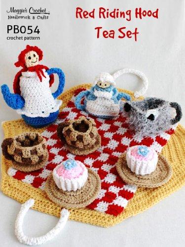 Crochet Pattern Red Riding Hood Tea Set PB054-R