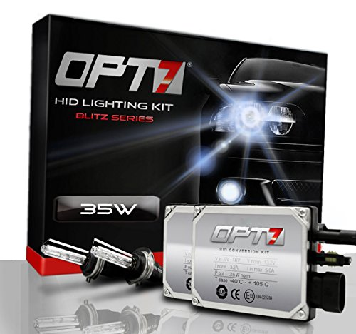 Opt7® Blitz Hid Xenon Conversion Kit W/ Relay Harness & Capacitors - 2 Year Warranty - H11 (8000K, Ice Blue)