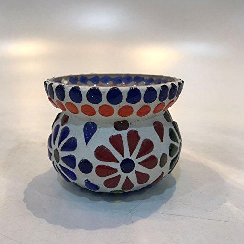 Dlite Crafts Multicolor Polka Design Home Decorative Votive Candle Holder, Set Of 2 PCs - B06XYK7WF8