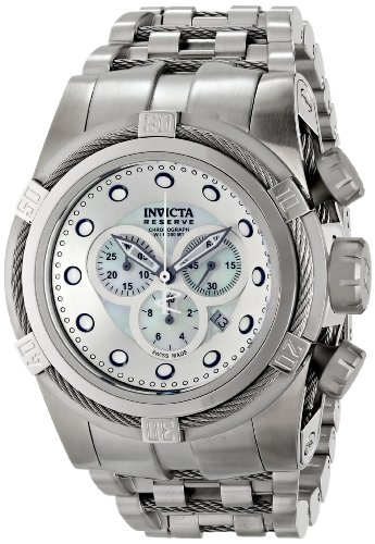 Invicta Men's 12729 Bolt Analog Display Swiss Quartz Silver Watch