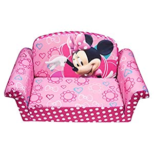 Marshmallow Children's Furniture - 2 in 1 Flip Open Sofa - Disney's Minnie Mouse Bow-Tique