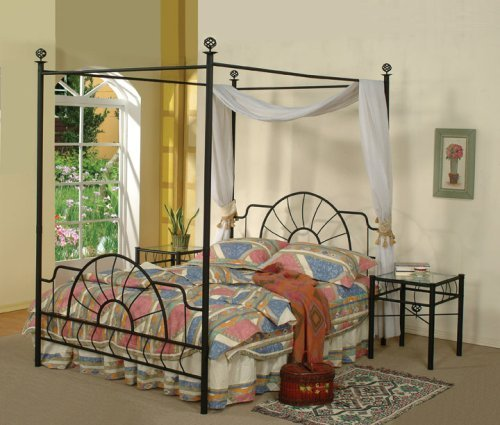 metal canopy beds full size 1