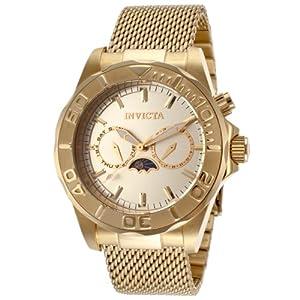 Invicta Men's 14389 Pro Diver Analog Display Swiss Quartz Gold Watch