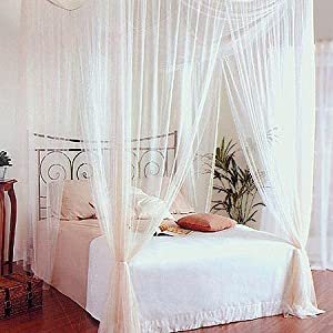 doppelbett baldachin himmelbett betthimmel 200x180 k che haushalt. Black Bedroom Furniture Sets. Home Design Ideas