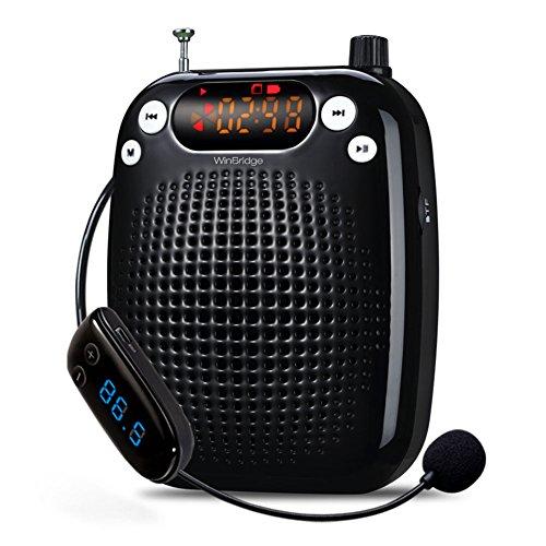 WinBridge S328 microfono Wireless portatile di insegnamento supporto Voice amplificatore FM Radio Stereo U disco/TF for guide turistiche, insegnanti, allenatori, presentazioni, costumi, Etc
