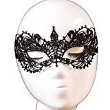 Yazilind Hot Masquerade Party Fancy Dress Butterfly Design Black Lace Mask