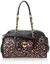 Betsey Johnson Be My Honey Buns Dome Satchel Top Handle Bag