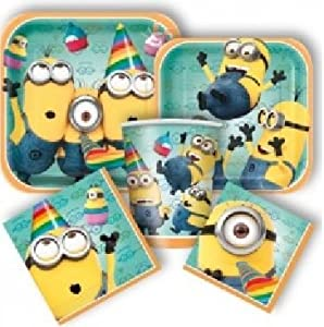 Amazon.com: Deluxe Despicable Me 2 Minions Birthday Party Pack for 8