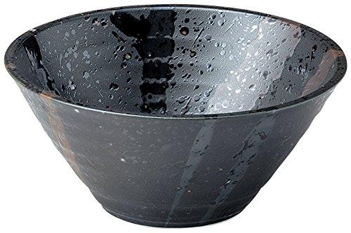 美濃焼 麺鉢・丼 しぶき 切立丼 黒 K80313