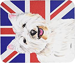 Caroline's Treasures Westie with English Union Jack British Flag Mouse Pad/Hot Pad/Trivet (SC9827MP)