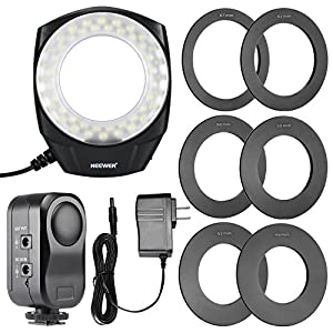 NEEWER® 48 Marco LED Ring Light with 6 Adapter Rings