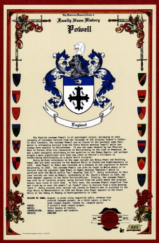 Powell Coat Of Arms/Crest And Family Name History, Meaning & Origin Plus Genealogy/Family Tree Research Aid To Help Find Clues To Ancestry, Roots, Namesakes And Ancestors Plus Many Other Surnames At The Historical Research Center Store front-711137