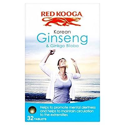 Red Kooga Korean Ginseng and Ginkgo Biloba - Pack of 32 Tablets by UDG LTD
