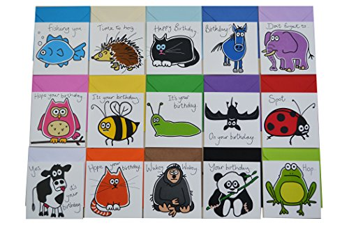 25-off-pack-of-15-pack-of-animal-birthday-cards