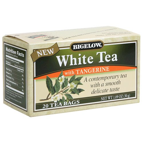 Buy Bigelow White Tea with Tangerine Tea, Tea Bags, 20-Count Boxes (Pack of 12) (Bigelow, Health & Personal Care, Products, Food & Snacks, Beverages, Tea, White Teas)