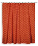 Rizzy Home Moroccan Shower Curtain, Orange/Pink